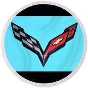 Chevy Emblem Round Beach Towel