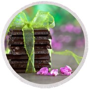 Chocolate Round Beach Towel