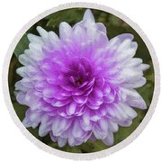 Chrysanthemum Art Round Beach Towel