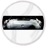 Classic Corvette Round Beach Towel by Angela Davies