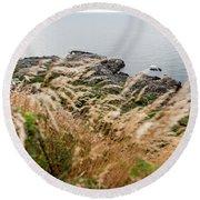 Cliffs At Kullaberg Round Beach Towel