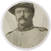 Colonel Theodore Roosevelt Round Beach Towel