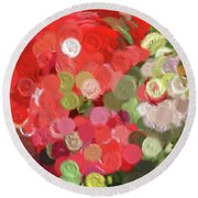 Colorful Circles  Round Beach Towel