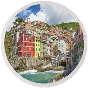 Colors Of Cinque Terre Round Beach Towel