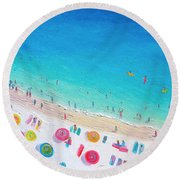 Colors Of The Beach Round Beach Towel