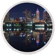 Columbus Ohio Round Beach Towel by Frozen in Time Fine Art Photography