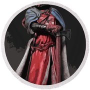 Crusader Warrior Round Beach Towel