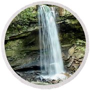 Cucumber Falls Pennsylvania Round Beach Towel by Chris Smith