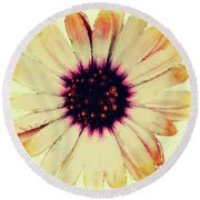 Daisy Decal Round Beach Towel