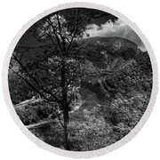 Round Beach Towel featuring the photograph Delaware Water Gap by Raymond Salani III