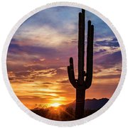 Round Beach Towel featuring the photograph Desert Beauty  by Saija Lehtonen