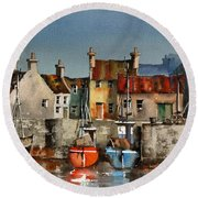 Dingle Harbour, Kerry Round Beach Towel