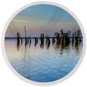 Dismal Swamp 2016 Round Beach Towel by Kevin Blackburn