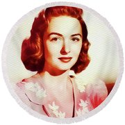 Donna Reed, Vintage Movie Star Round Beach Towel
