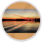 Doug Hobson, Red Rock Lake Round Beach Towel