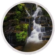 Eastatoe Falls Round Beach Towel