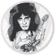 Eddie Van Halen Round Beach Towel by Gary Bodnar