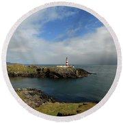 Eilean Glas Lighthouse Round Beach Towel