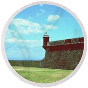 Round Beach Towel featuring the photograph El Morro by Gary Wonning