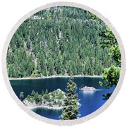 Emerald Bay Round Beach Towel
