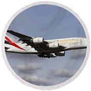 Emirates A380 Airbus Round Beach Towel