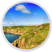 End Of The World - Cornwall Round Beach Towel