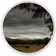 Etna, The West Side Round Beach Towel