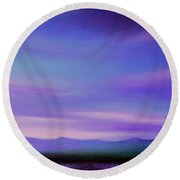 Evening Colours Round Beach Towel