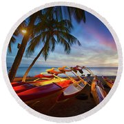 Evening Falls Round Beach Towel by James Roemmling