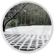 First Snow Fall Round Beach Towel