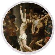 Flagellation Of Christ Round Beach Towel