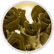 Floral Gold Collection Round Beach Towel