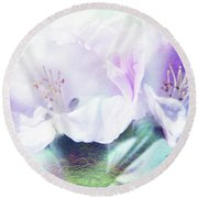 Flowering Round Beach Towel