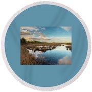 Franklin Parker Preserve Landscape Round Beach Towel