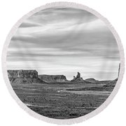 Round Beach Towel featuring the photograph From Artist's Point by Jon Glaser