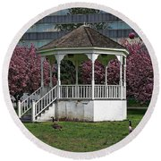 Gazebo In The Park Round Beach Towel