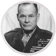 General Lewis Chesty Puller Round Beach Towel