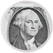 Round Beach Towel featuring the photograph George Washington by Les Cunliffe