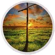 Round Beach Towel featuring the photograph Good Friday by Phil Koch