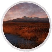 Great Salt Lake Round Beach Towel