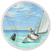 Ground Swell Round Beach Towel
