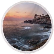 Guardian Of The Sea Round Beach Towel