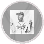 Hank Aaron Round Beach Towel