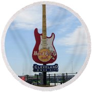 Hard Rock Cafe Round Beach Towel