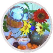Home Round Beach Towel by Kathy Bassett