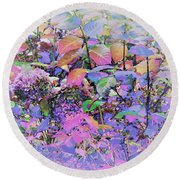 Hydrangea Round Beach Towel by Ann Johndro-Collins