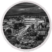 Il Colosseo Round Beach Towel