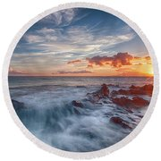 Into The Mystic Round Beach Towel by James Roemmling