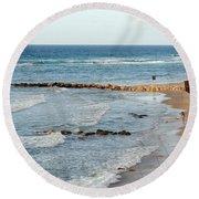 Jaffa Beach 7 Round Beach Towel