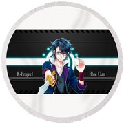 K Project Round Beach Towel